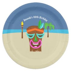 Kids Hawaiian Luau Party Paper Plate  sc 1 st  Pinterest & Kids Hawaiian Luau Party add photo Invitation - party gifts gift ...