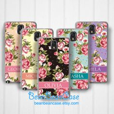 Personalized Samsung Galaxy Note 3 case Note 2 case, floral print flower rose design by BeanBeanCase, $12.99