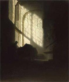 Licht-donkercontrast: een tegenstelling tussen lichte en donkere stukken, tussen licht en schaduw.