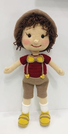 Free Amigurumi Crochet Doll Pattern and Design ideas - Daily Crochet! - Free Amigurumi Crochet Doll Pattern and Design ideas – Daily Crochet! Free Amigurumi Crochet Doll Pattern and Design ideas – Daily Crochet! Crochet Diy, Crochet For Boys, Crochet Patterns Amigurumi, Crochet Gifts, Amigurumi Doll, Crochet Dolls Free Patterns, Crochet Doll Pattern, Doll Patterns, Knitting Patterns