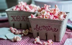 Love Healthy: Homemade Popcorn with Strawberry Dust + Valentine's Craft for Kids
