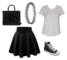 """Sans titre #207"" by margot-52 ❤ liked on Polyvore featuring Converse and Yves Saint Laurent"