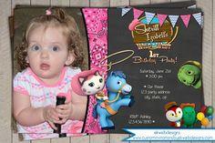 Sheriff Callie's Birthday Invitation - Chalkboard Background