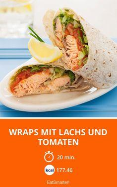 Wraps mit Lachs und Tomaten - smarter - Zeit: 20 Min. | eatsmarter.de