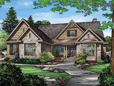 Craftsman cottage on pinterest craftsman craftsman for Eplans craftsman bungalow 11192