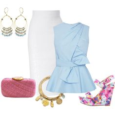 Office style. Summer outfit