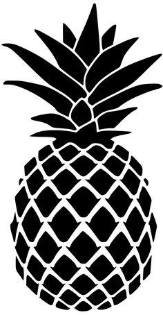 Pineapple Stencil for Doormat Pineapple art Silhouette art Silhouette stencil