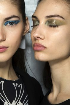 Backstage Beauty: Shimmery Statement Eyes | Dior F/W 2014