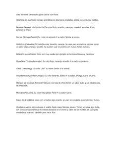 Lista de flores comestibles para cocinar con flores by Reforestemos Puebla via slideshare