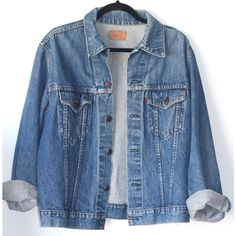 9d61bfabf68 Levi S Oversized Denim Jacket ❤ liked on Polyvore featuring outerwear