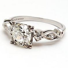 1920 Vintage Wedding Rings | Home 1920's Art Deco Antique Diamond Engagement Ring Solid Platinum