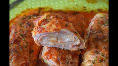 Pechugas de pollo RELLENAS y  al HORNO - Fáciles y deliciosas
