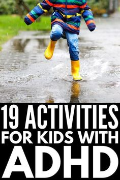 19 activities for kids with ADHD to burn excess energy for improved impulse control, anger management, focus, and concentration. Adhd Activities, Gross Motor Activities, Fun Activities For Kids, Therapy Activities, Kids Fun, Autism Behavior Management, Anger Management, Home Games For Kids, Adhd Kids