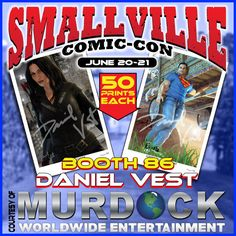 Artist Daniel Vest exclusives for the #Smallville #ComicCon in #Kansas. With #Superman coming home to the farm to help out with the chores and his dog #Krypto.  Plus the Katrina Law as #Nyssa from #CWs #Arrow.