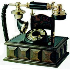 Vintage 1970 | This 1970's decorator cradle telephone features a unique cradle style ...