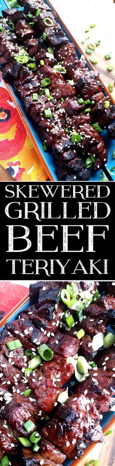 Skewered Grilled Beef Teriyaki