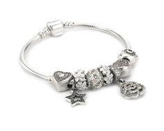 S925 Sterling Silver, Zirconia Enamel Cute Story Bracelet--charmselft.com