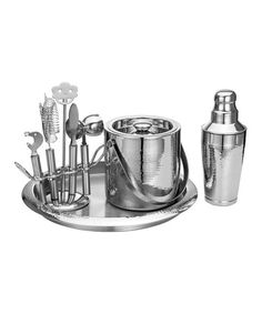 Look at this #zulilyfind! Hammered Bar Set #zulilyfinds