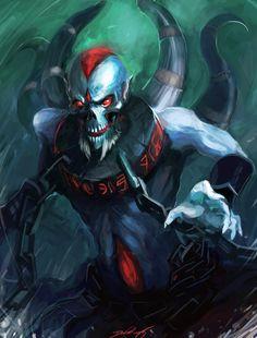 Lich - Dota 2 by ~UpsideDownBattleship on deviantART Dat ulti. Vampires, Dota Game, Character Art, Character Design, Defense Of The Ancients, Dota 2 Wallpaper, Dark Fantasy Art, Video Game Art, Cultura Pop