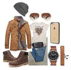 """""""Workwear"""" by hadia-i on Polyvore featuring Levi's, MadeWorn, Ray-Ban, Outdoor Research, Incase, Columbia, Arizona, men's fashion and menswear"""