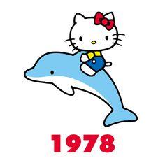 Hello kitty through the years 1978