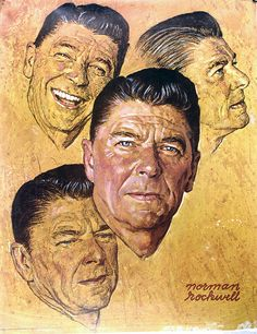 Painting President Regan by Norman Rockwell.