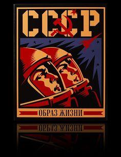 Soviet era space program propaganda poster... this would make a cool t-shirt!