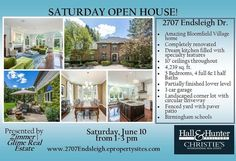Looking for an amazing Bloomfield Village home? Check out our listing at 2707 Endsleigh Drive today Saturday June 10 from 1-3 pm during our open house! Join us to view this extraordinary residence. Sophisticated chic and renovated to perfection! This stately residence blending stylish beauty and comfort is truly not your typical Village home. Dream kitchen filled with specialty features is an entertainers delight! 10 ceilings throughout. Extensive molding and architectural detailing…