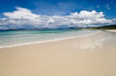 The Maldives? Put away your passport (and your sun cream): this perfect white sandy shore is actually Seilebost Beach in the Outer Hebrides, Scotland. Places To Travel, Places To See, Uk Landscapes, Isle Of Harris, Uk Destinations, Outer Hebrides, Mont Saint Michel, Scotland Travel, Scotland Trip