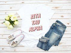 Sorority Shirts, Zeta Tau Alpha, ZTA, Big Little,  Big Little Shirts, Sorority Gifts, Reveal Shirts, Custom Sorority Gift, Kappa Delta,Delta  #zetataualpha #sorority #sororityshirts  #sororityrecruitment #alphakappaalpha #chiomega #zetataualpha #deltagamma  #phimu  #collegelife Sassy Shirts, Mom Shirts, Funny Shirts, Teacher Shirts, Create T Shirt, Sorority Shirts, Sorority Life, Shirts With Sayings, Quote Shirts