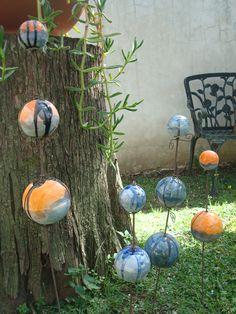 Hauswurzelipse 4 totems for Adornos para el jardin