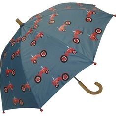 KIDS:  Hatley Farmer Jack Umbrella  Kids sized umbrella with fun all-over print. Features curved wood handle and ferrule, steel shaft and frame with rounded plastic safety tips . Manual opening and closing with pinch-proof runner.    Was: CAD $20.00  Now: CAD $15.00    http://www.raindropsto.com/umbrellas/kids-umbrellas/hatley-farmer-jack-umbrella