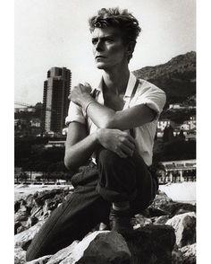 David Bowie, Montecarlo, 1983 … Photo by Helmut Newton …