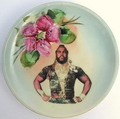 """""""Mr.T"""" Floral Plate"""