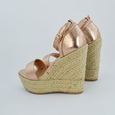 Essex Glam - SUMMER ROSE GOLD WEDGES
