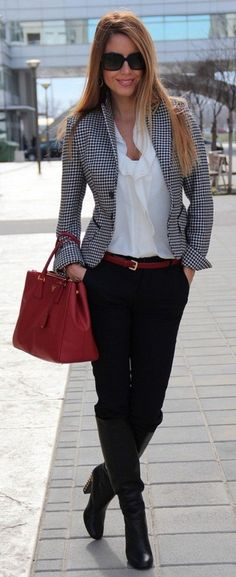 Work Outfit Combination Ideas for Business Ladies