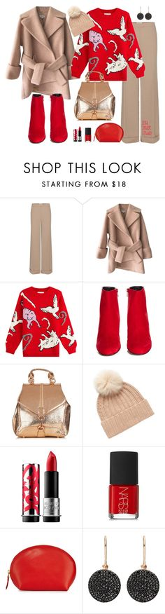 """""""Winter #28"""" by leila-image-style ❤ liked on Polyvore featuring Nina Ricci, Carven, Paul & Joe, Yves Saint Laurent, Badgley Mischka, MAKE UP FOR EVER, NARS Cosmetics, Neiman Marcus, Astley Clarke and Winter"""