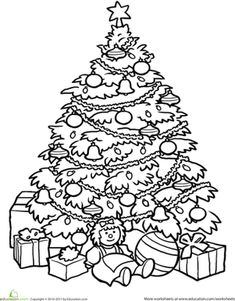 Print Out Coloring Book Christmas Tree Coloring Coloring Pages For ...
