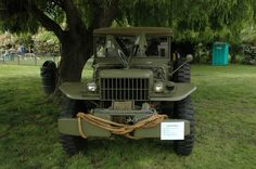 The Dodge WC series was a range of light military trucks produced by Dodge during World War II. The series included weapon carriers, telephone installation trucks, ambulances, reconnaissance vehicles, mobile workshops and command cars. They were replaced after the war by the Dodge M-series vehicles. WC was a Dodge model code: W for 1941 and C for half-ton rating. The C code was retained for the ¾ ton and 1½ ton 6×6 Dodges...