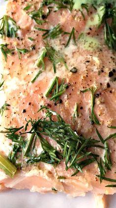 Lemon Dill Salmon w/Cucumber Herb Sauce