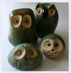 cute stuff,,,yummy stuffs and how to's like photog best tutorials (Best Paint Sprayer) Ceramic Birds, Ceramic Animals, Ceramic Clay, Ceramic Pottery, Pottery Art, Clay Animals, Clay Owl, Clay Birds, Sculptures Céramiques