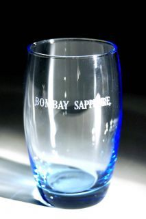 bombay sapphire gin glasses.