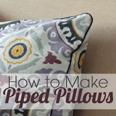 How to sew piping on pillows - For the destroyed couch (poor couch)