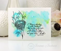 SSCB, #serendipity #card #stamp #watercolor #bird #nest #papercraft #wish