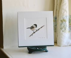 I drew this Coal Tit from a photograph taken by Karen Summers. This is a mounted and cellophane wrapped limited edition giclee print from the original pastel drawing. External dimensions: 30x30cm For more information on commissions or to browse more of Imogens products please visit