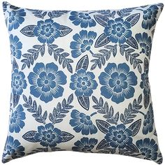 The Avens Blue Floral Throw Pillow features a soft denim blue floral print on a cotton fabric. Wash Pillows, Floral Throw Pillows, Decorative Throw Pillows, Fabric Squares, Perfect Pillow, Memorable Gifts, Home Decor Outlet, Color Pop, Pillow Covers