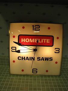 VINTAGE PAM HOMELITE CHAINSAWS CHAIN SAWS CLOCK SUPER NICE WORKING CONDITION | eBay