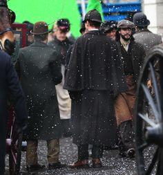 Sherlock Christmas Special / Benedict Cumberbatch and Martin Freeman film a scene for the 'Sherlock' christmas special in LondonFeaturing: Martin Freeman, Benedict CumberbatchWhere: London, United KingdomWhen: 07 Feb 2015Credit: WENN.com