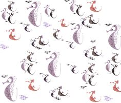 Swimming with the herd fabric by mulberry_tree on Spoonflower - custom fabric