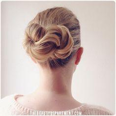 beauty dept: infinity bun